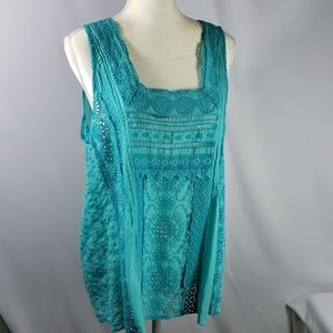JOHNNY WAS TANK TOP BLOUSE SIZE LARGE